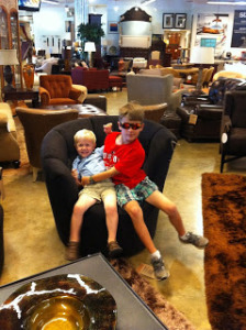 Furniture shopping with kids is an adventure