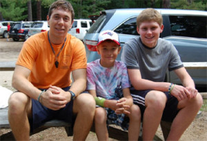 My big kid and his camp counselors - great guys.