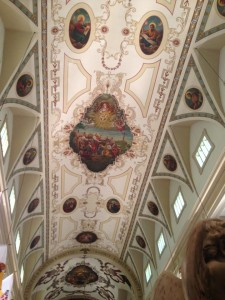 The ceiling at St. Louis Cathedral in Jackson Square