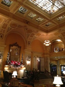 The lobby of the Hermitage Hotel