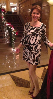 Me out in my consignment store dress!