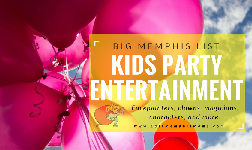 Memphis Kids Party Entertainment FacePainters Characters and More